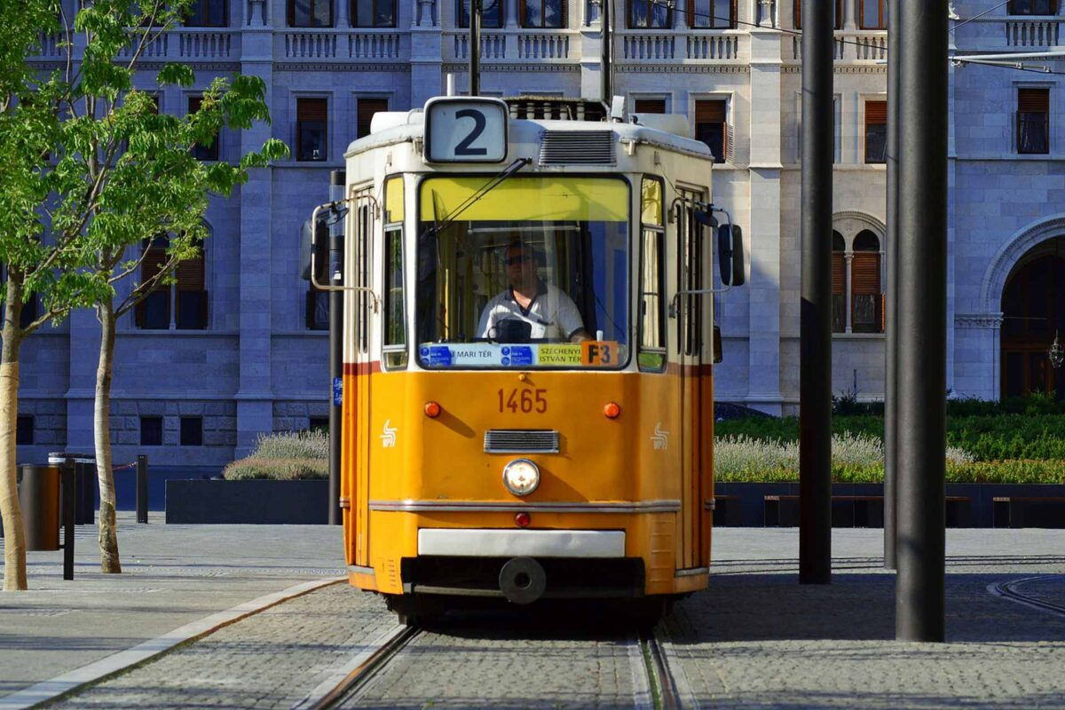 Budapest Hungary Tram