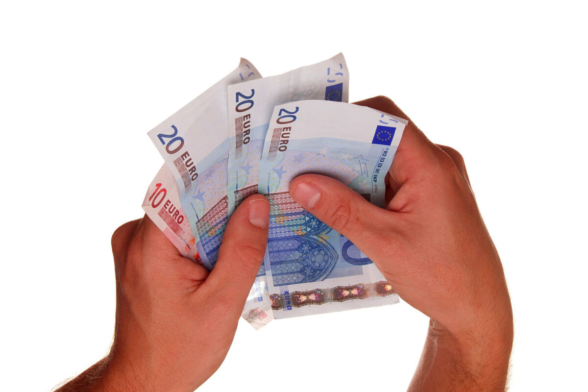 euro money hands salary wages