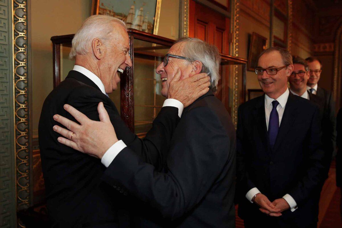 2015 visit of Jean-Claude Juncker, President of the EC, to the United States. Joe Biden