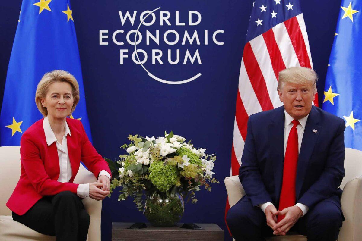 Donald Trump, on the right, and Ursula von der Leyen 21 01 2020