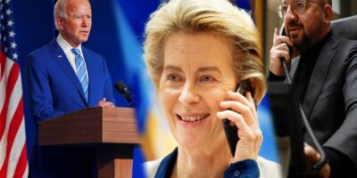Joe Biden - Ursula von der Leyen - Charles Michel