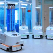 UV disinfection robots