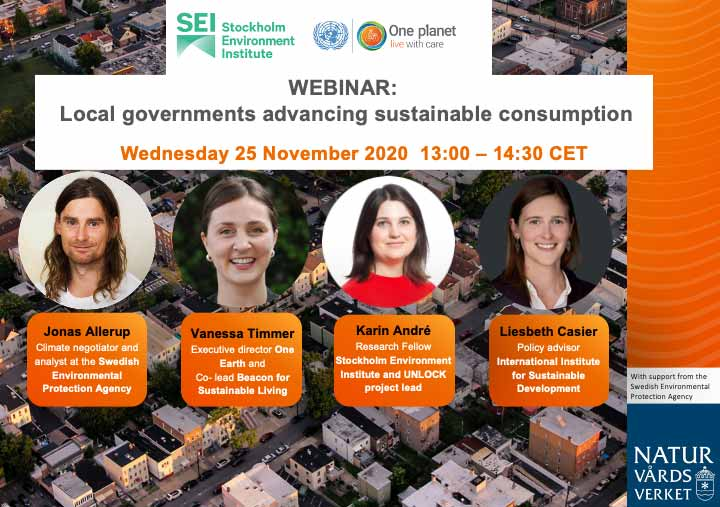 Webinar Local governments advancing sustainable consumption