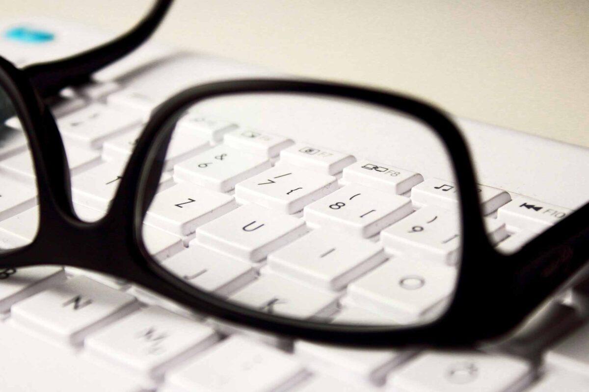 glasses computer laptop