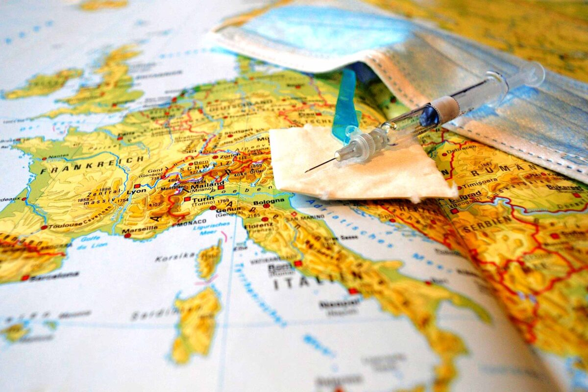 vaccine European map