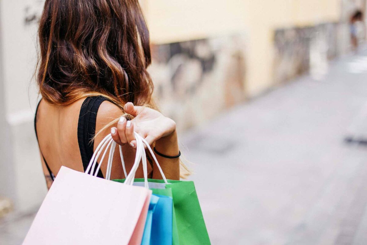 woman people shopping bags