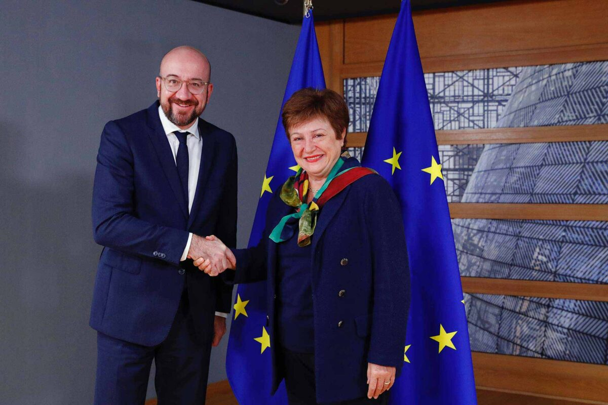 Mr Charles MICHEL, President of the European Council; Ms Kristalina GEORGIEVA, Managing Director of the IMF