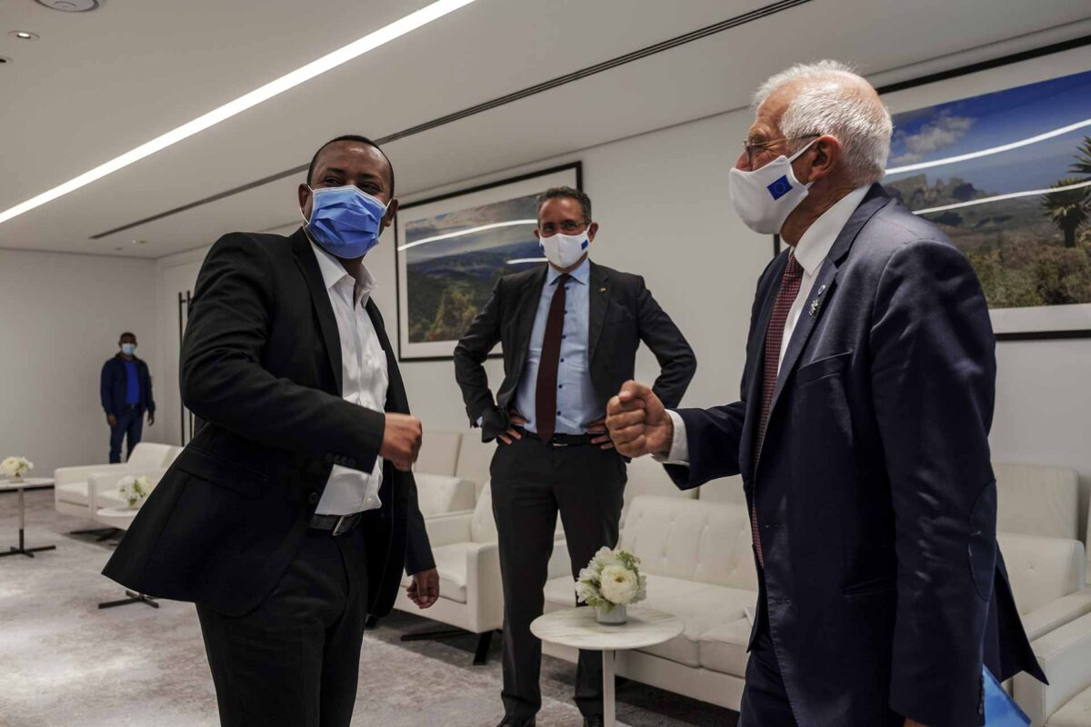 Abiy Ahmed, Ethiopian Prime Minister and Josep Borrell Fontelles in Addis Ababa
