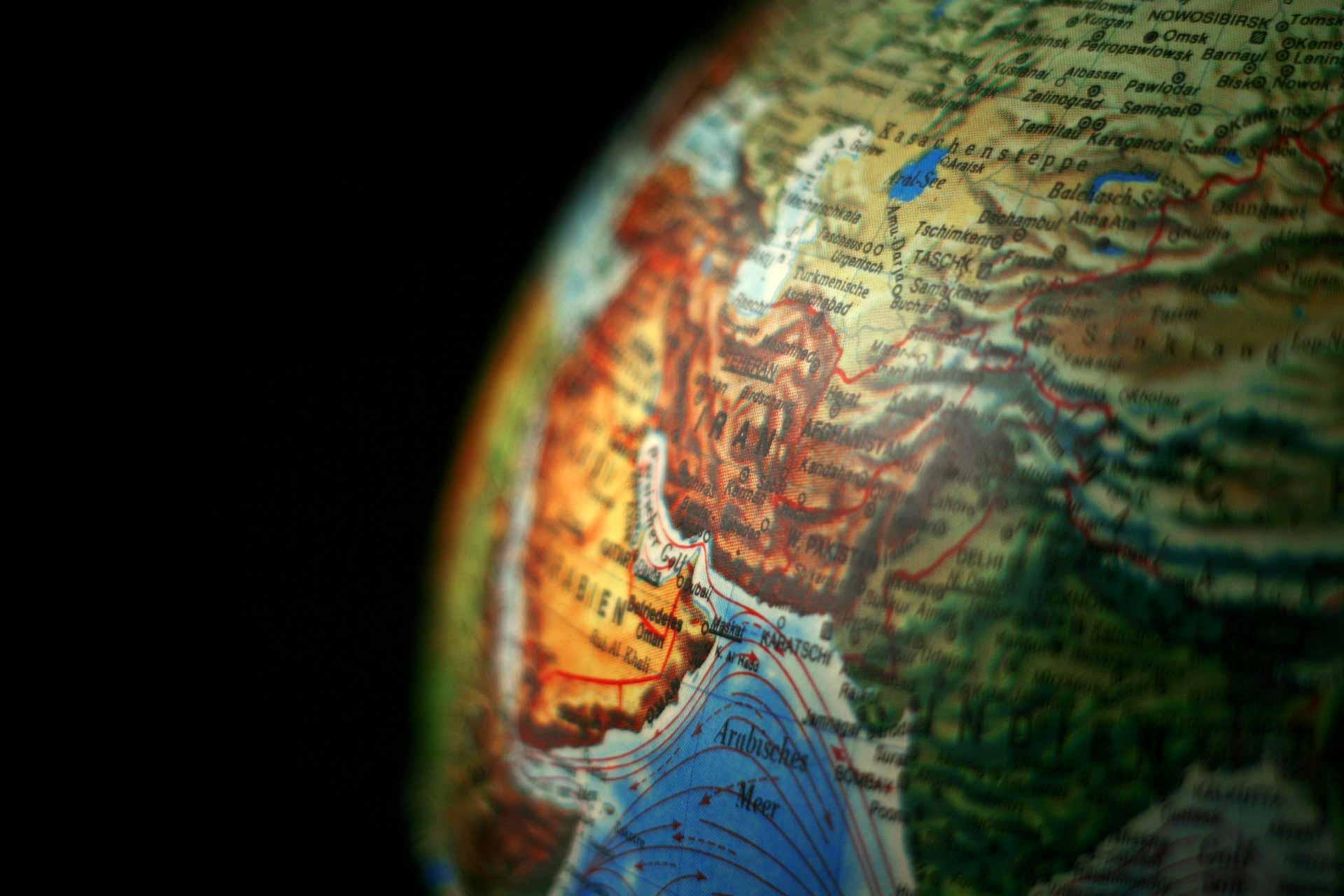 Iran Map globe