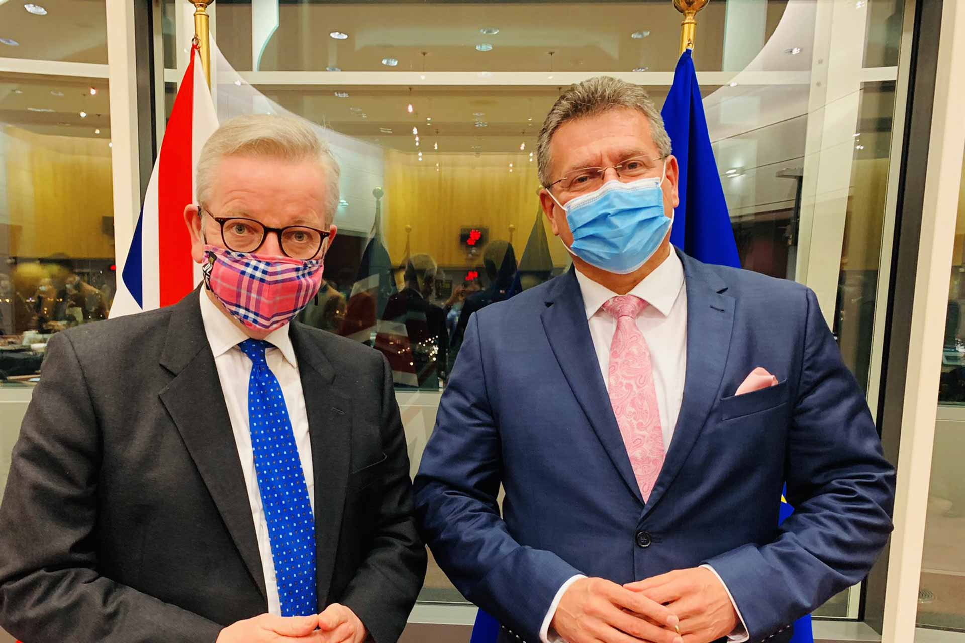 Maros Sefcovic and Michael Gove