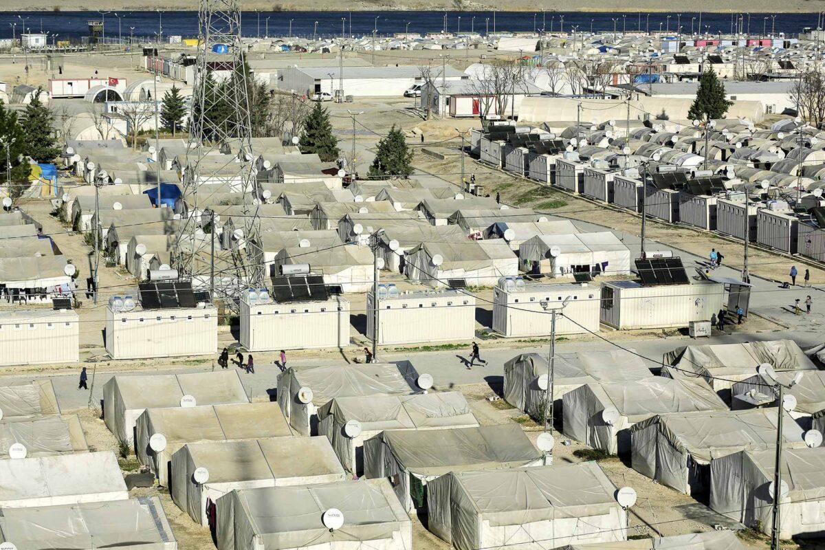 Refugee camp of Nizip, Turkey, 45 kilometers away from Syrian border