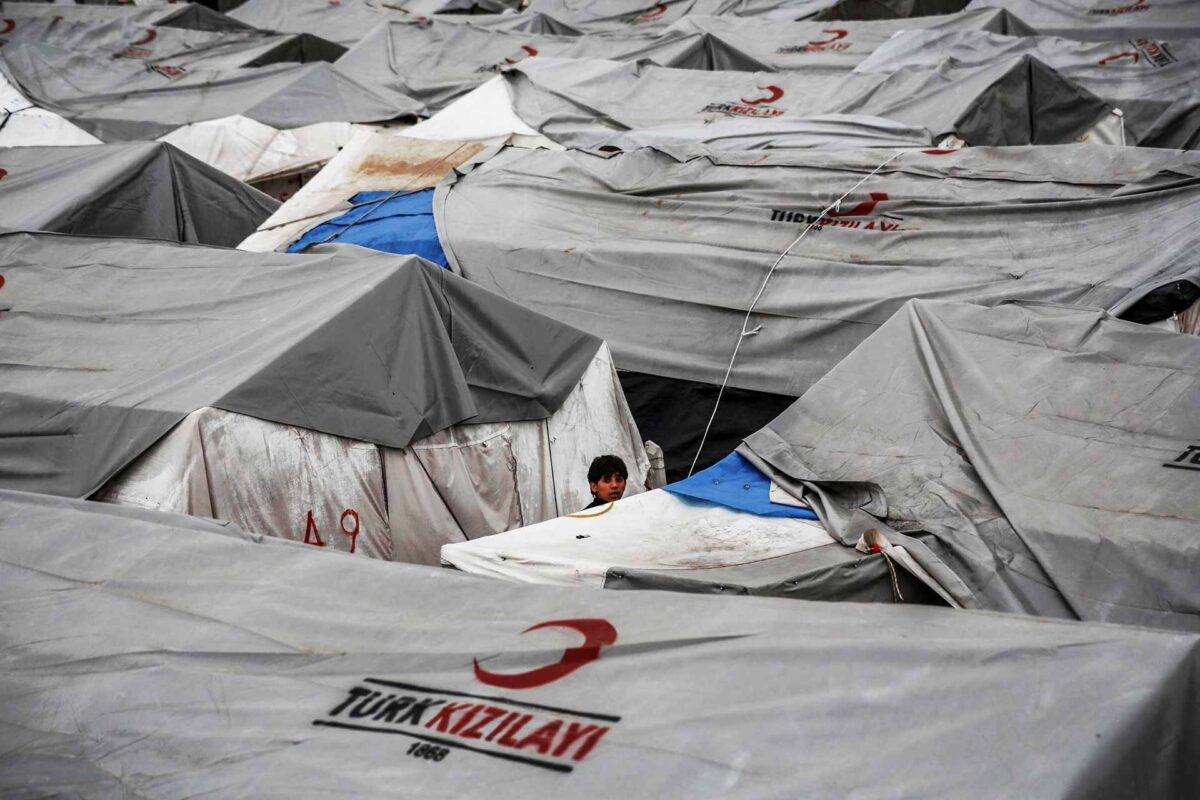 The refugee camp tents Kahramanmaras