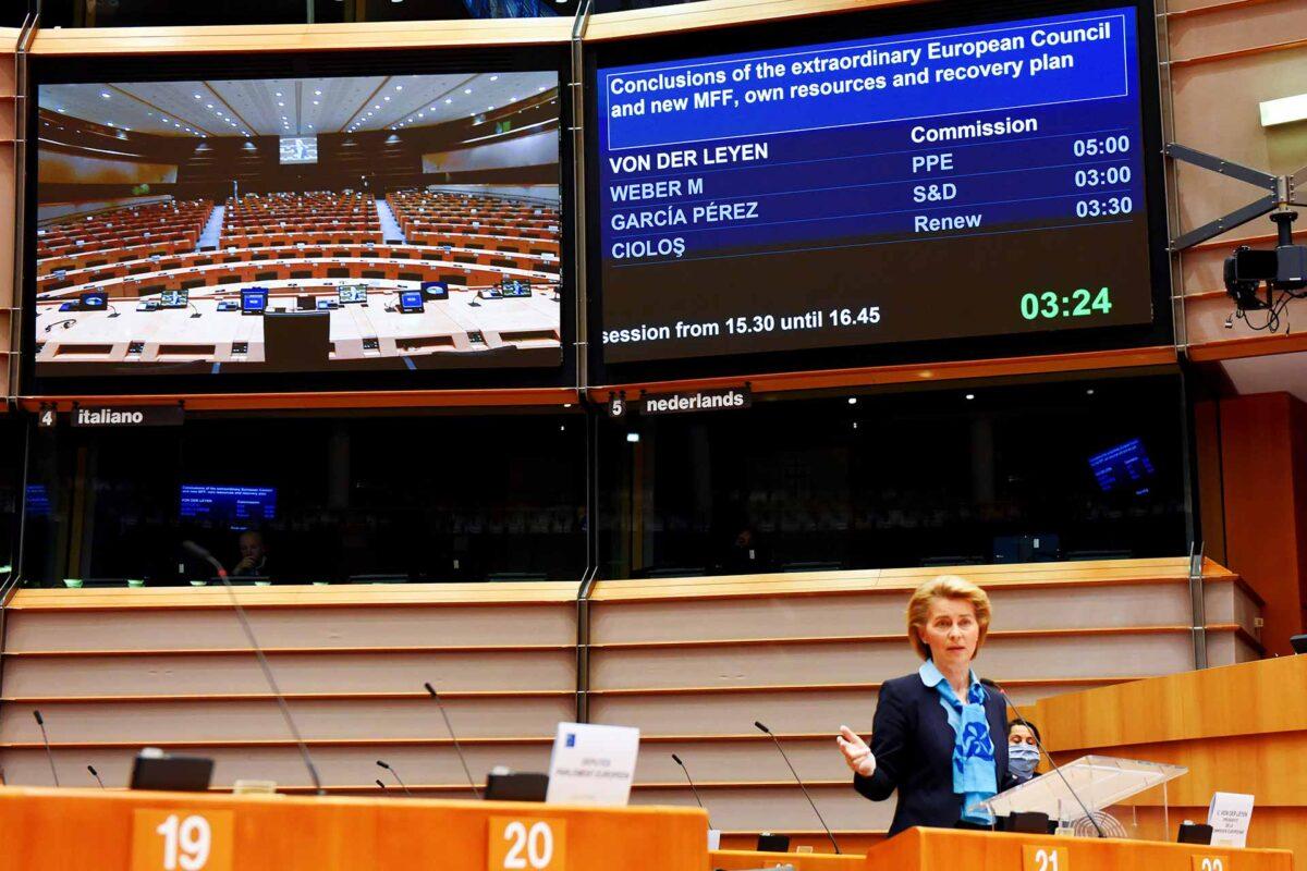 Ursula von der Leyen MFF debate European Parliament