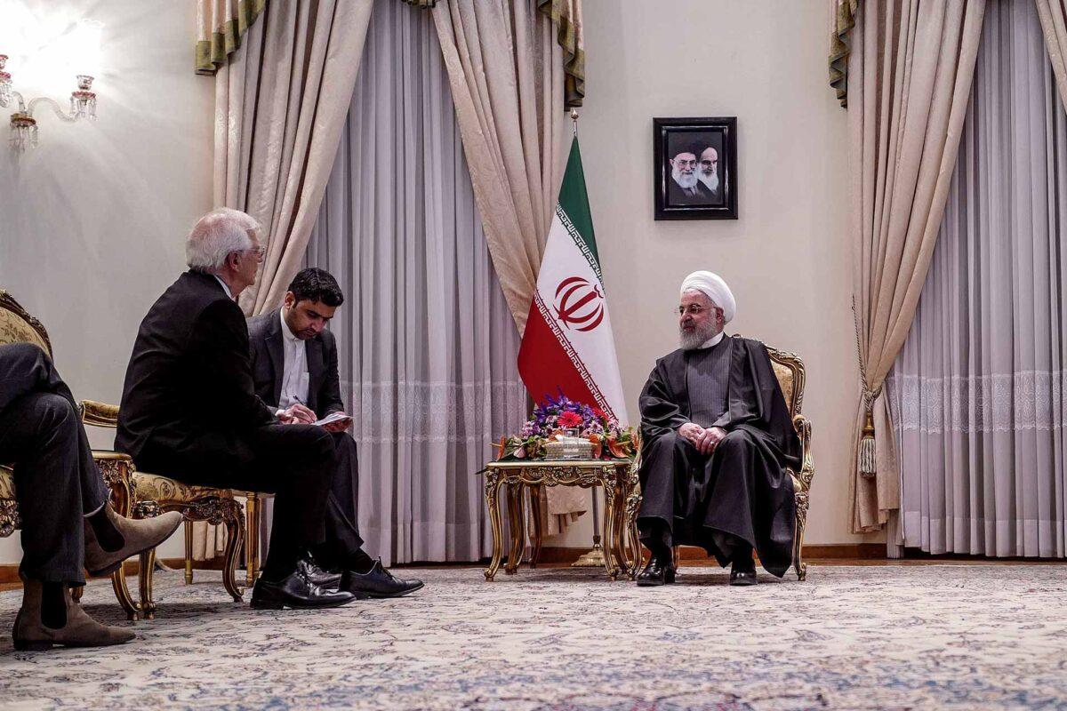 Hassan Rohani and Josep Borrell Fontelles in Iran