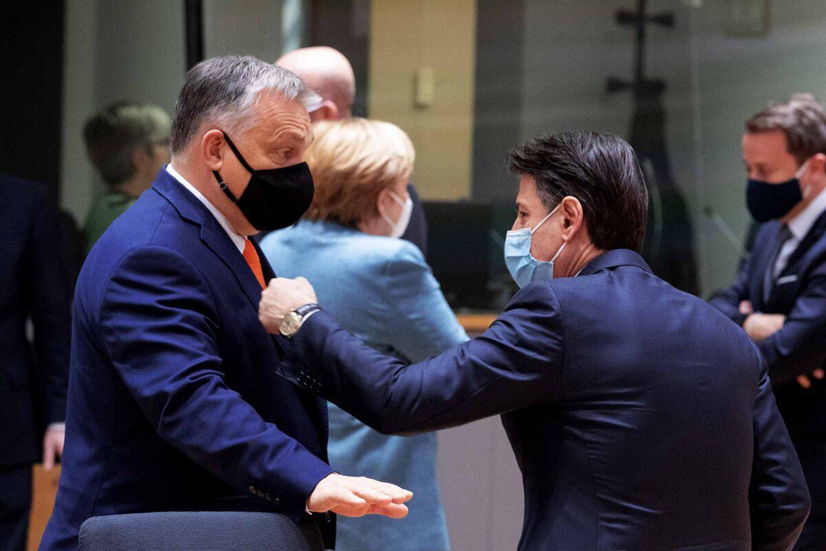 Viktor Orbán with Giuseppe Conte