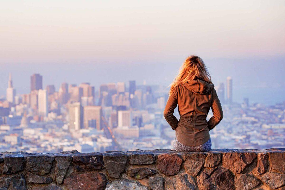 blonde traveller travel tourism