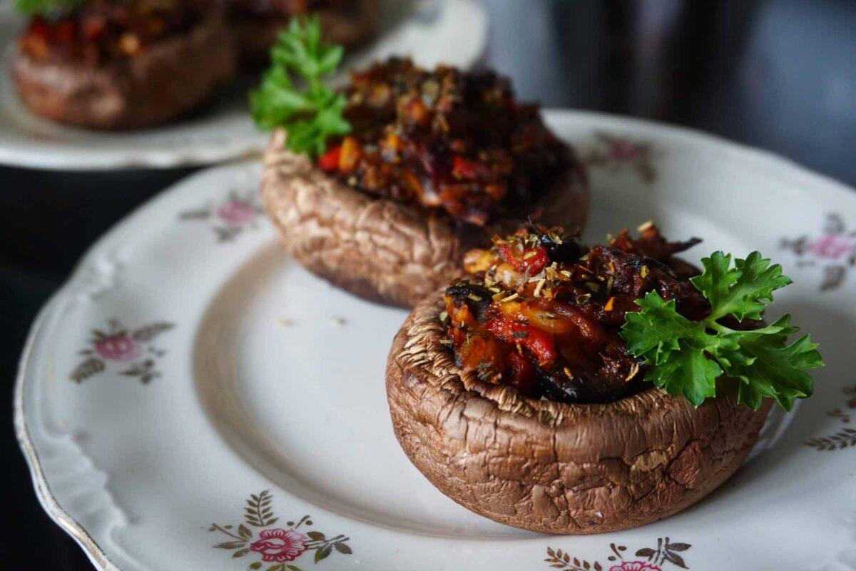mushroom burger veggie for Vegan