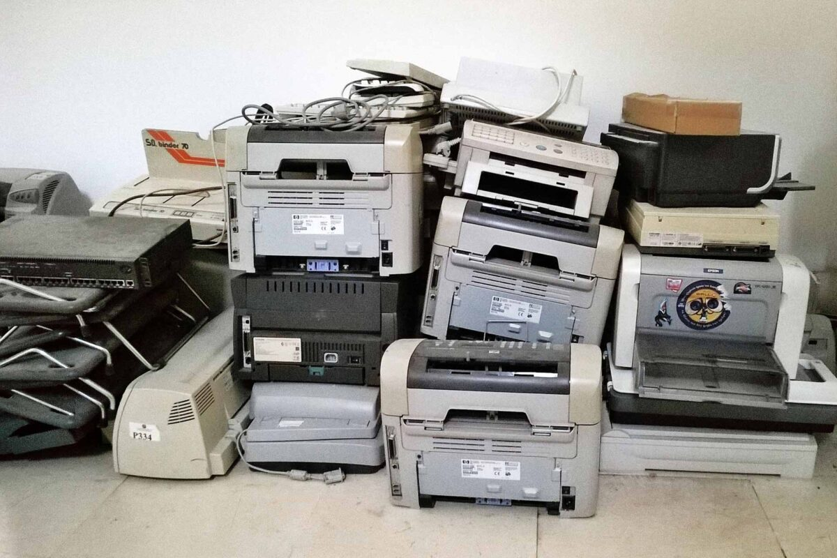 printers recycling e-waste