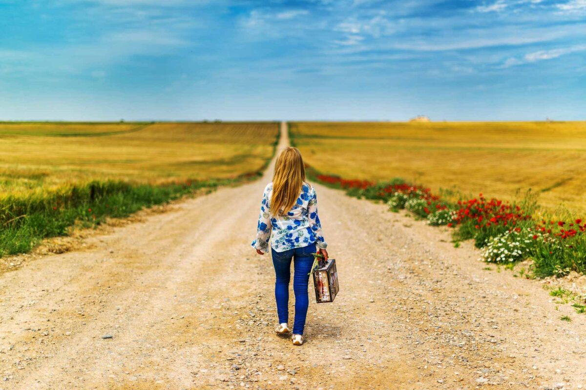 suitcase woman traveller travel tourism