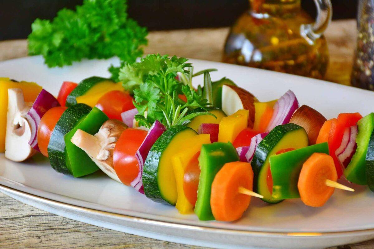 vegetable skewer farm-to-fork food