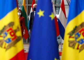 Mr Charles MICHEL, President of the European Council; Ms Maia SANDU, President of Moldova