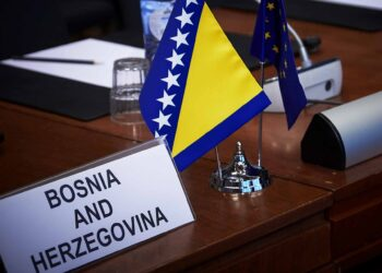 Bosnia and Herzegovina EU flags
