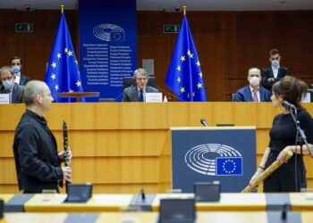 David Sassoli at International Holocaust Day in European Parliament in Brussels