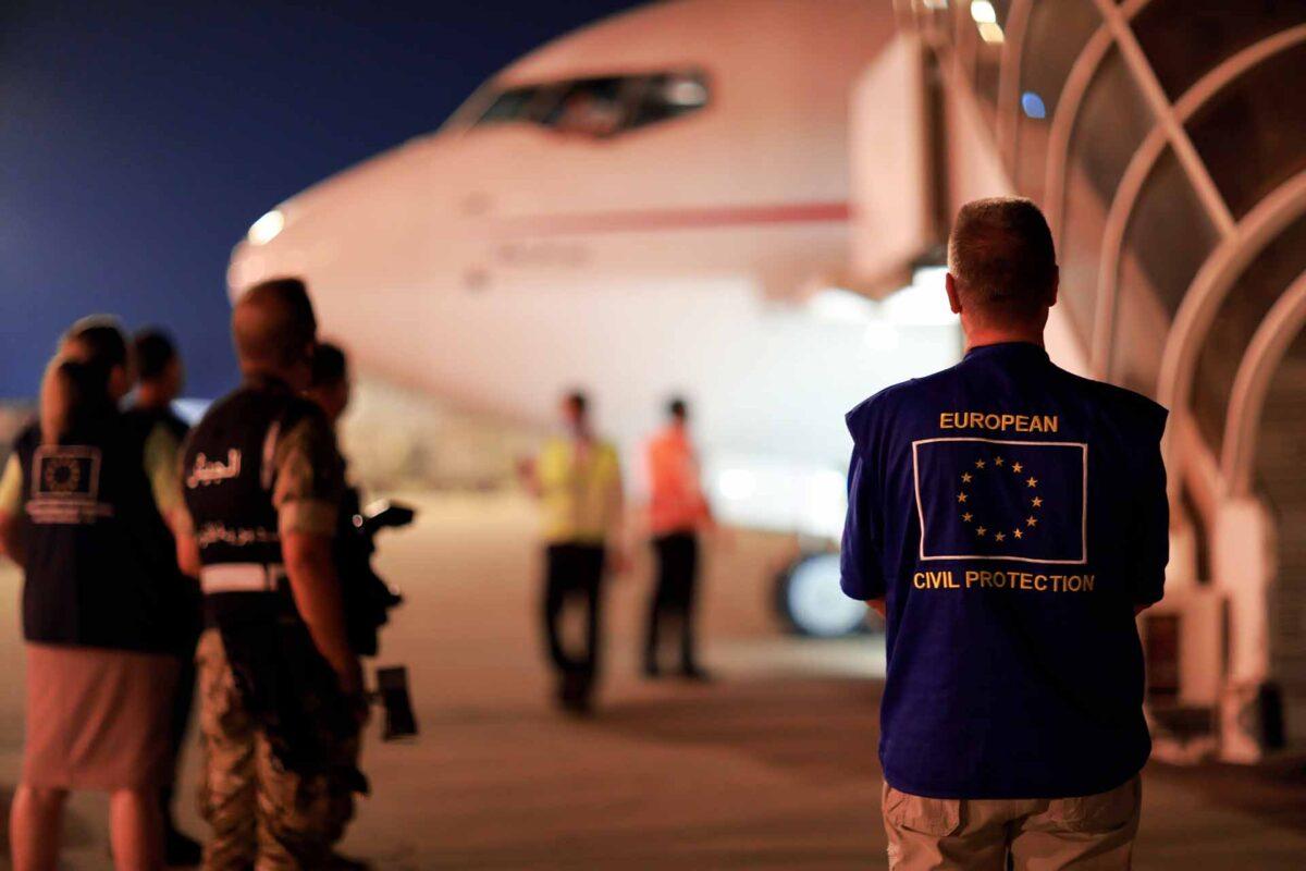 Arrival of the humanitarian air bridge