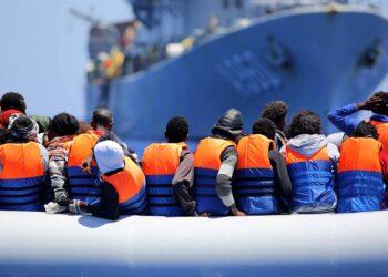 Belgian vessel Godetia, for the rescue Operation Triton