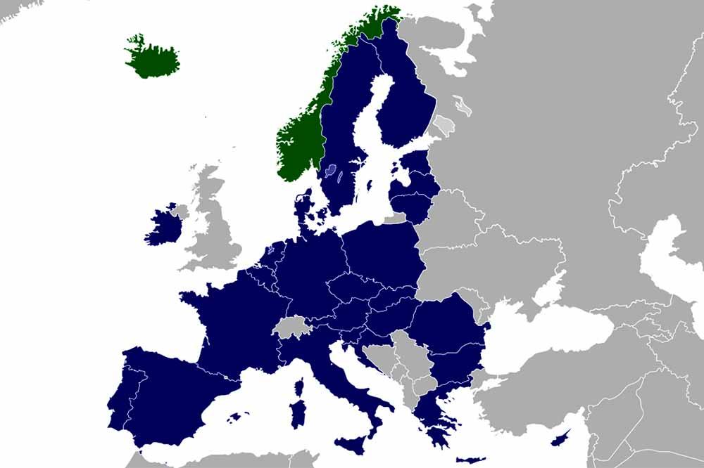 EEA Free roaming map