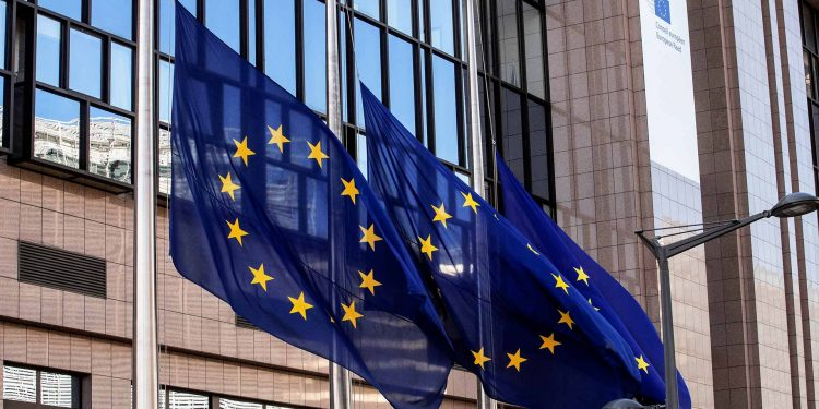 EU flags lowered to half-mast