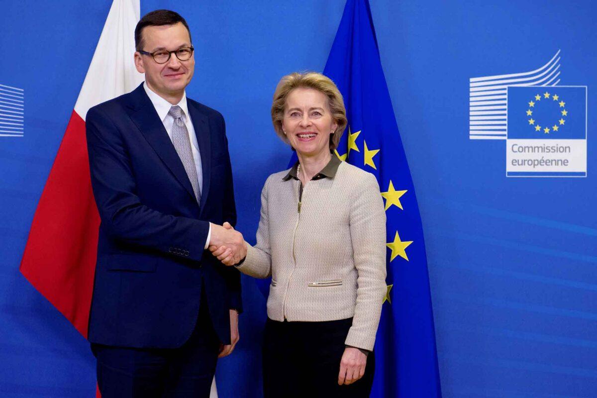 Mateusz Morawiecki and Ursula von der Leyen in Brussels