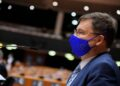 Valdis Dombrovskis, Executive Vice-President of the European Commission in charge of an Economy that works for People, and Commissioner for Trade