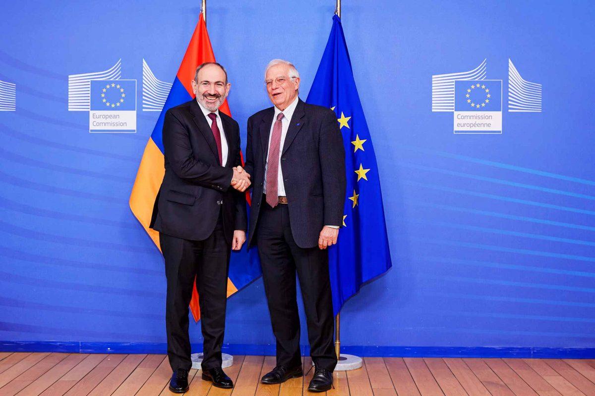 Mr Nikol PASHINYAN, Prime Minister of Armenia; Mr Josep BORRELL FONTELLES